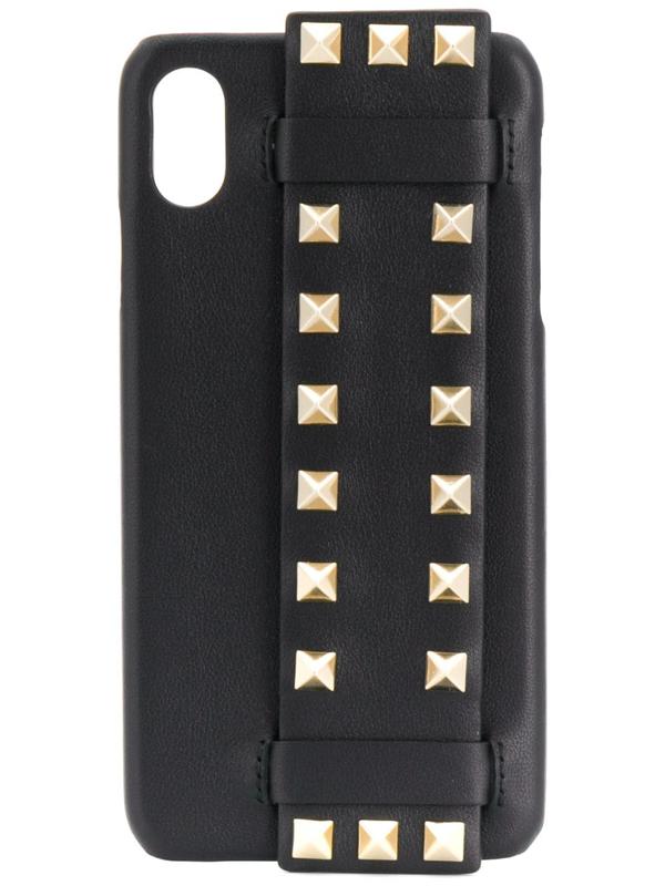 Valentino Garavani Rockstud Iphone X Case In Black
