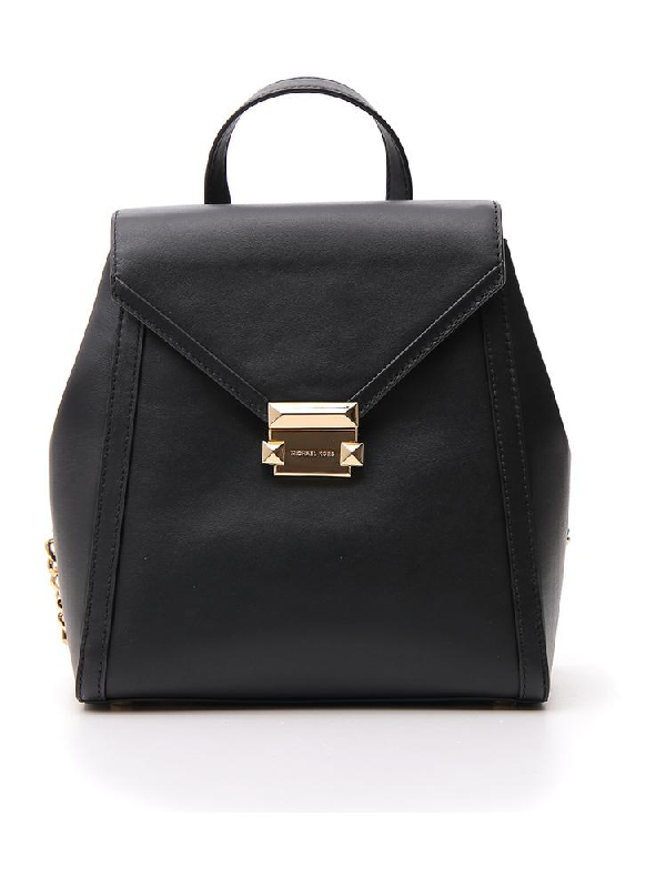 Michael Michael Kors Push Lock Backpack In Black