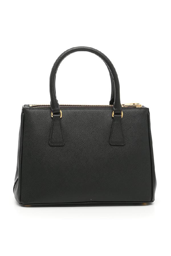 Prada Medium Galleria Top Handle Tote Bag In Black