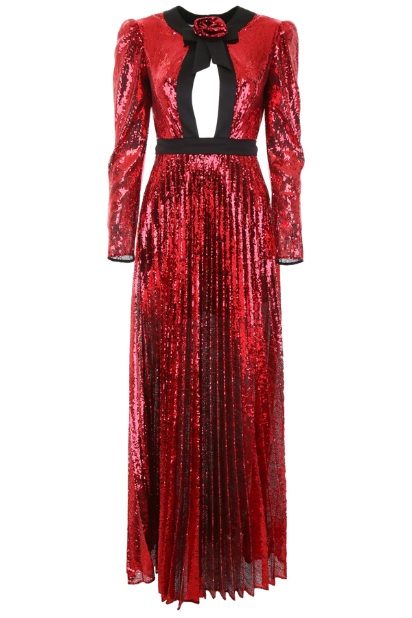 Philosophy Sequined Dress In Red