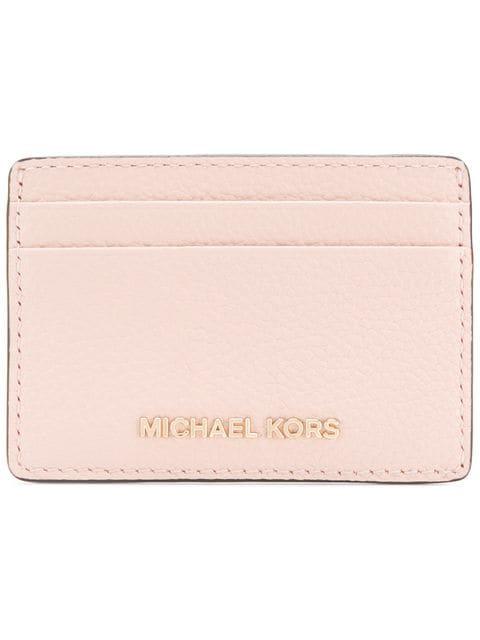 Michael Michael Kors Jet Set Cardholder In Pink
