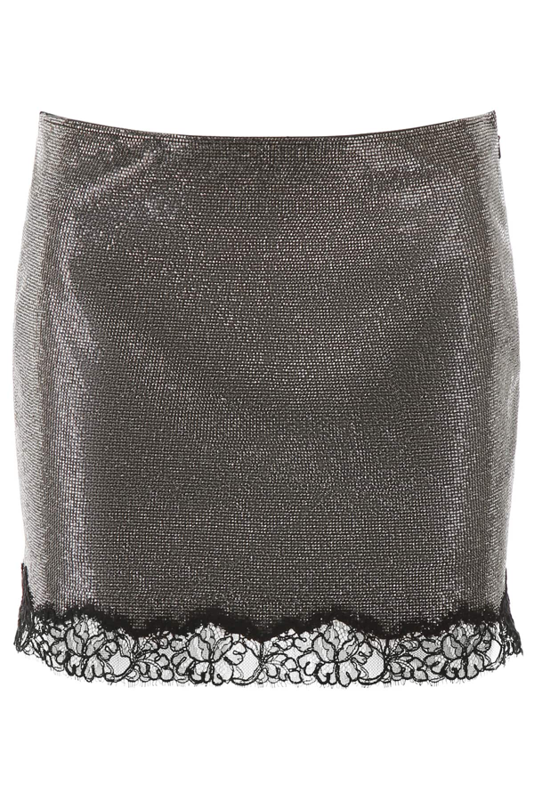 Philosophy Micro Crystal Mini Skirt In Silver