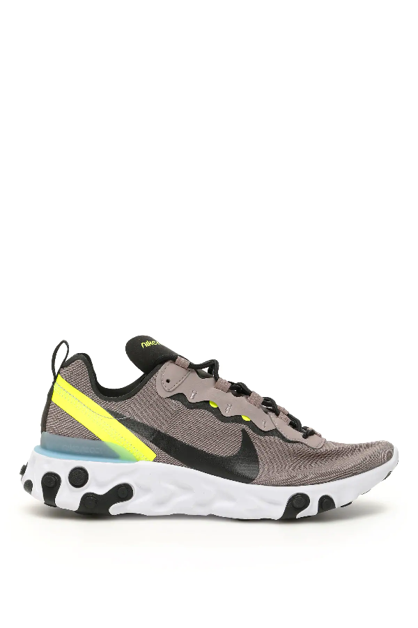 Nike React Element 55 Sneakers In Brown,Yellow,Black