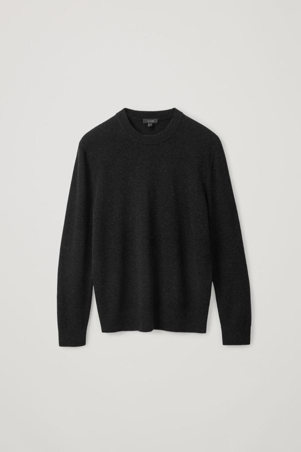 Cos Merino-yak Crew-neck Sweater In Black