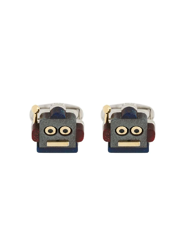 Paul Smith Toy Robot Cufflinks In Silver