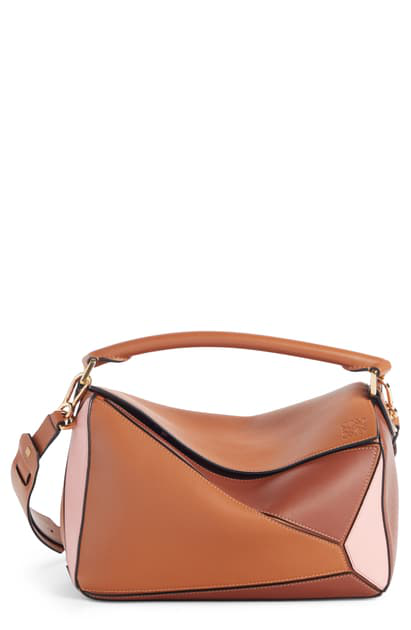 Loewe Puzzle Small Leather Shoulder Bag In Multi