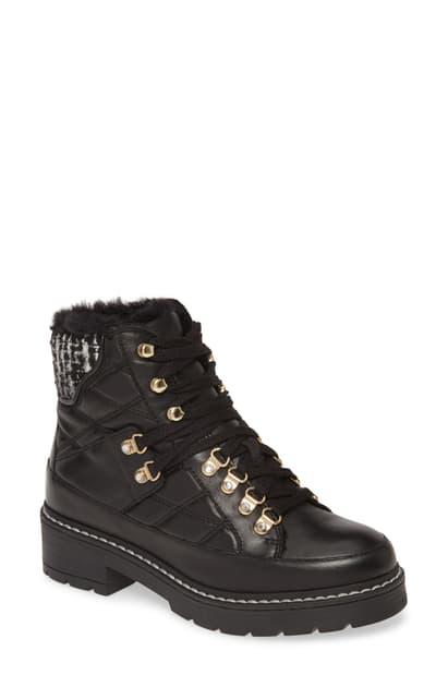 Kurt Geiger Women's Roman Combat Boots In Black/ Comb Leather