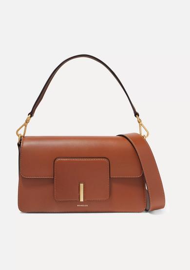 Wandler 'Georgia' Leather Shoulder Bag In Brown