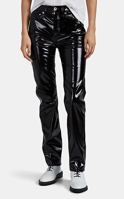 Rag & Bone Super High-Rise Vinyl Ankle Skinny Jeans In Black