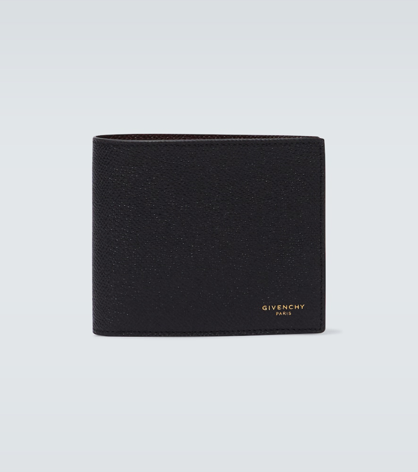 Givenchy Logo Leather Bifold Wallet In Black