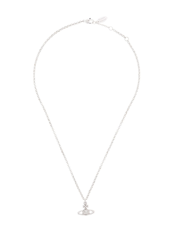Vivienne Westwood Mayfair Bas Relief Pendant Necklace In Silver