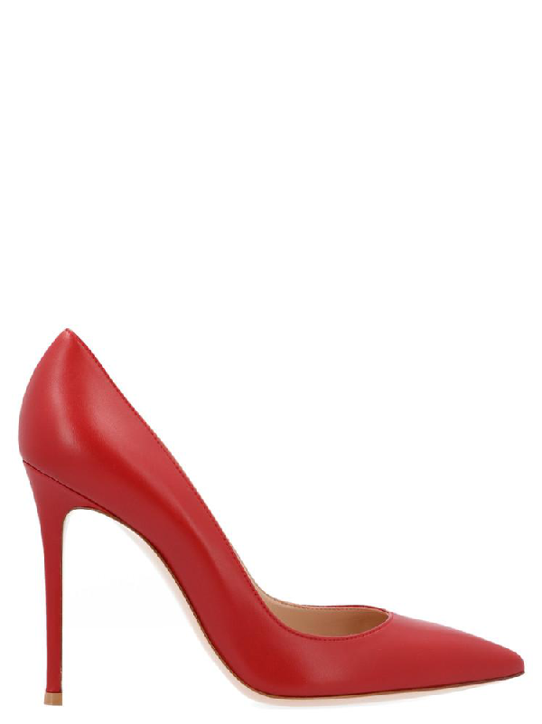 Gianvito Rossi Pointed Toe Pumps In Red