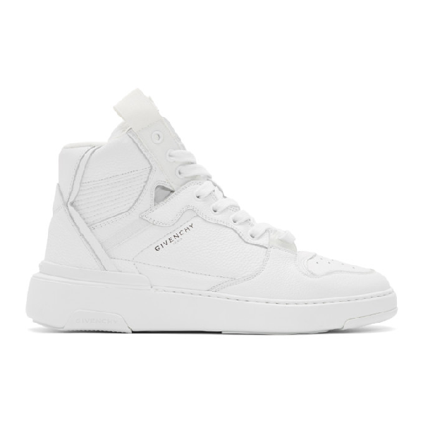 Givenchy Basket High Top Sneakers In White