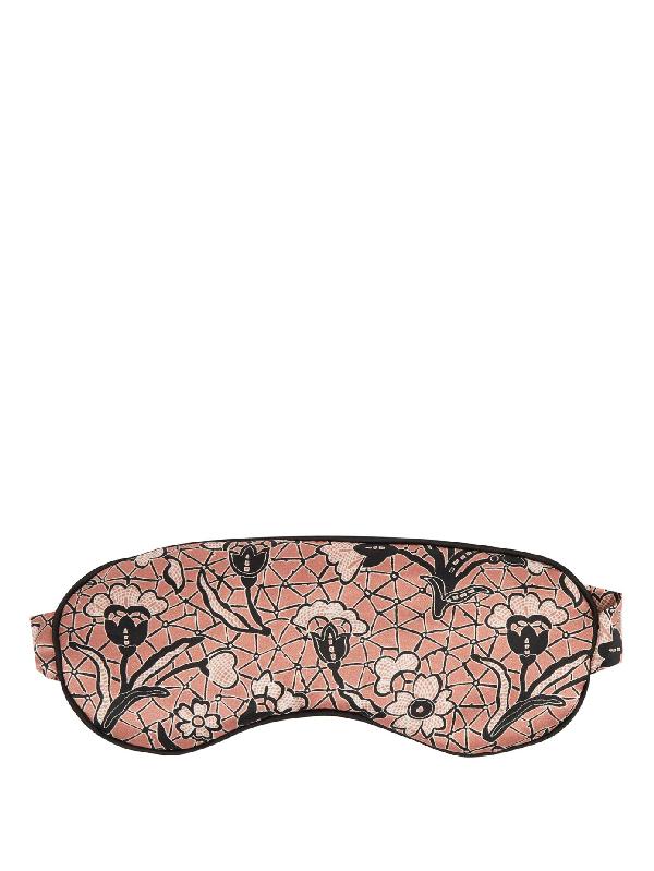 Morpho + Luna Jemma Mirage-print Silk Eye Mask In Pink Multi