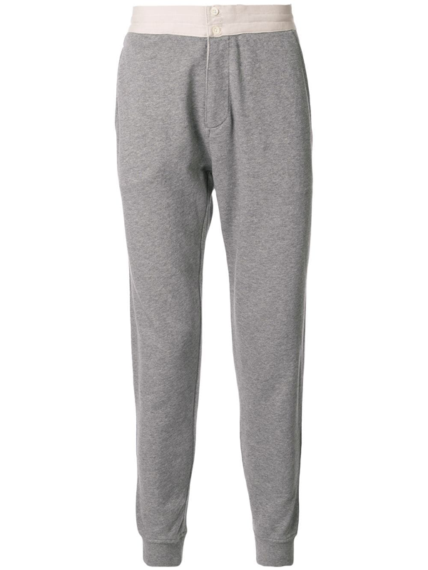 Kent & Curwen Tapered Track Trousers In Grey