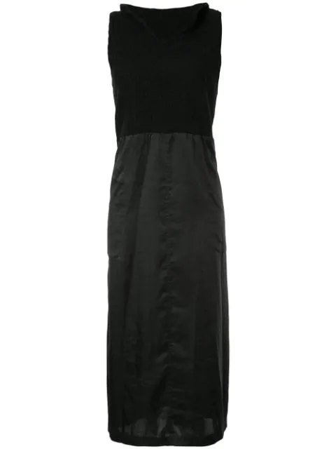 Pre-owned Comme Des Garçons Knitted Panel Dress In Black