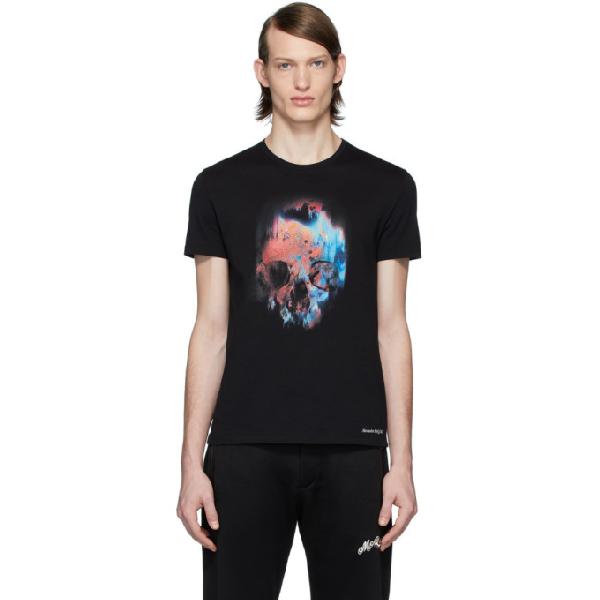 Alexander Mcqueen Abstract Skull-print Cotton T-shirt In Black Mix