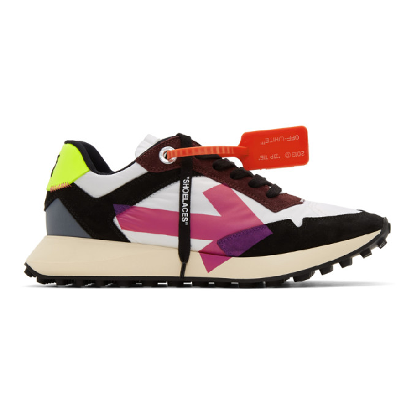 Off-white Everyday Logo-print Suede And Shell Sneakers In White Fuchs