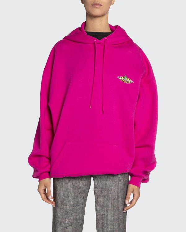 Balenciaga Sweatshirt In Pink & Purple