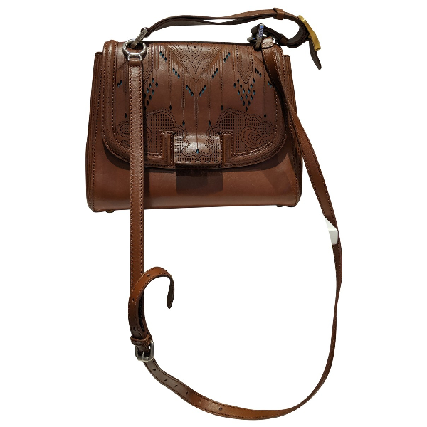 Fendi Silvana Camel Leather Handbag