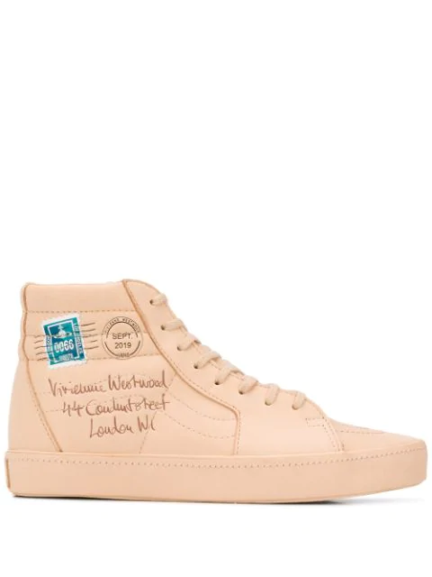 Vans Sk8 Hi Plattfor Sneakers In Beige Leather In Neutrals   ModeSens