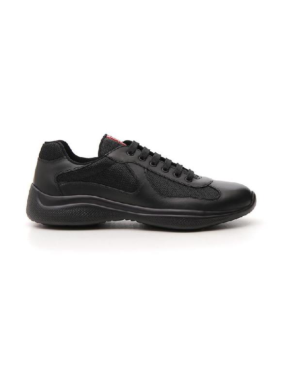 Prada America's Cup Sneakers In Nero