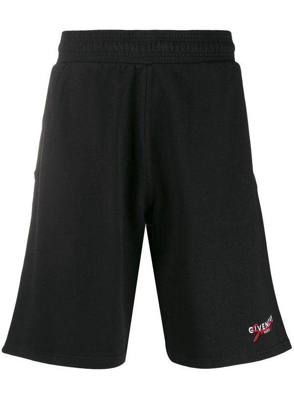 Givenchy Men's Signature Sweat Shorts In Black