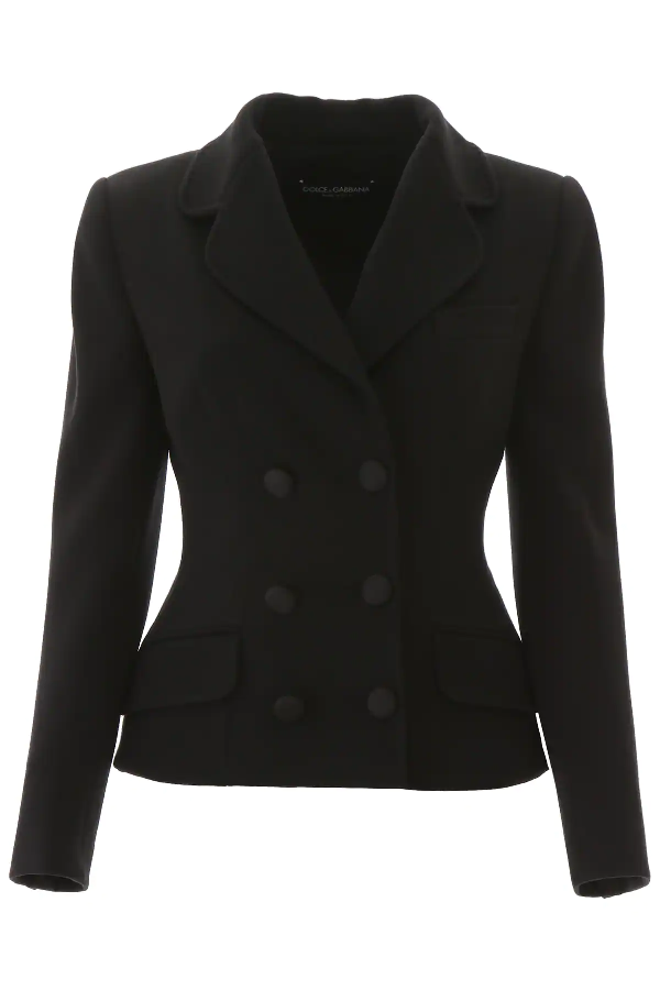 Dolce & Gabbana Double-breasted Blazer In Black