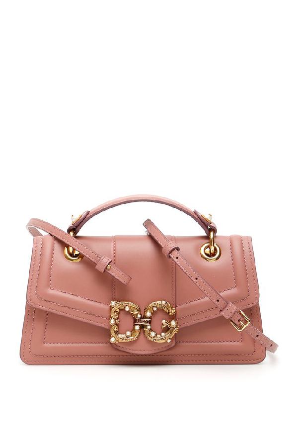 Dolce & Gabbana Dg Amore Shoulder Bag In Pink