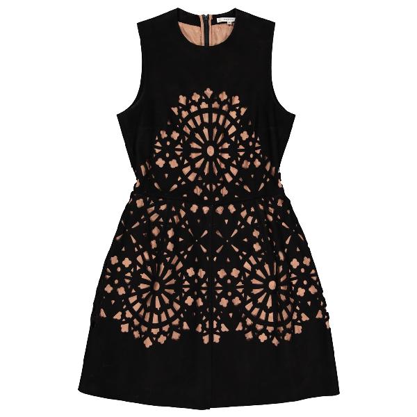Carven Black Suede Dress