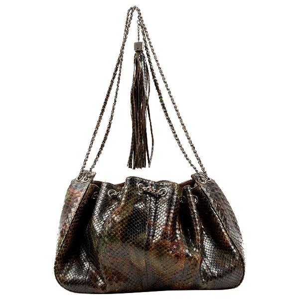 Chanel Multicolour Python Handbag