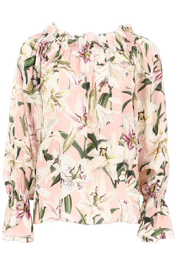 Dolce & Gabbana Floral Print Off In Multi