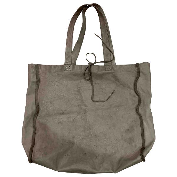 Danielapi Grey Suede Handbag