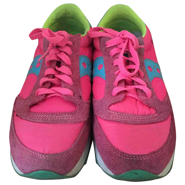 Saucony Pink Cloth Trainers