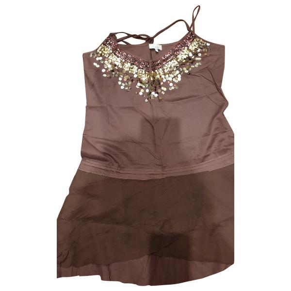 Pinko Brown Cotton Dress