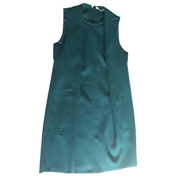 Carven Green Wool Dress