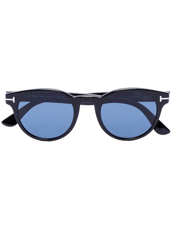 Tom Ford Black Palmer Round Sunglasses