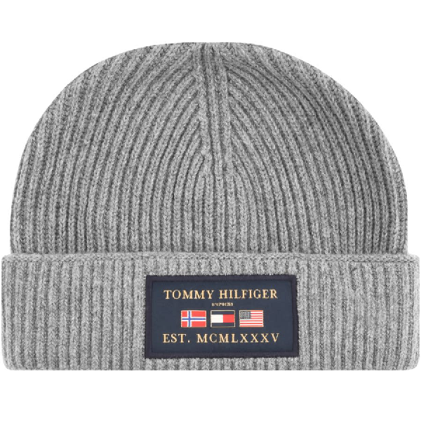 Tommy Hilfiger Outdoors Patch Beanie Hat Grey