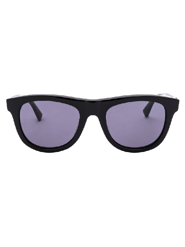 Bottega Veneta Eyewear Round Frame Sunglasses In Black