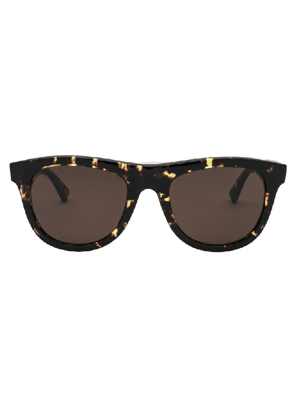 Bottega Veneta Eyewear Tortoiseshell Sunglasses In Brown