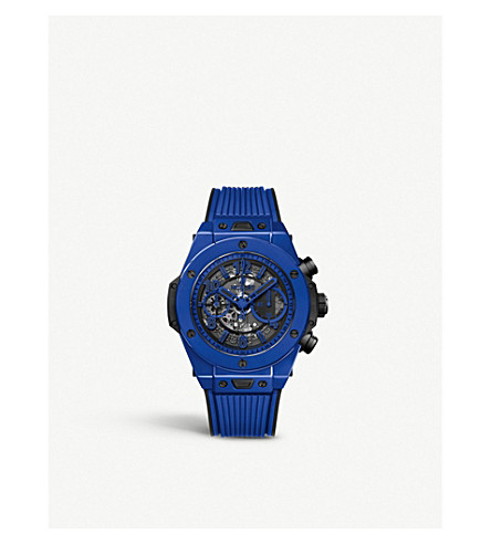 Hublot 411.es.5119.rx Big Bang Unico Blue Magic Ceramic Chronograph Watch