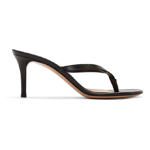 Gianvito Rossi Black 70 Heeled Sandals