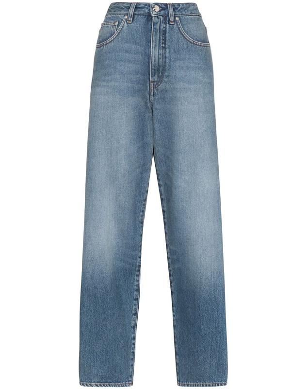 Totême Flair Rigid High-rise Wide-leg Jeans In Blue