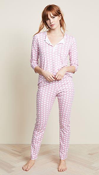 Roller Rabbit Women's Hathi 2-piece Long Pajama Set In Pink