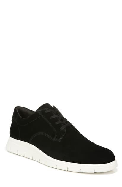Vince Men's Stephen Suede Platform Sneakers In Black