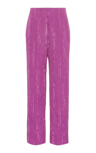 Rachel Comey Fractal Jacquard Straight-leg Pants In Pink