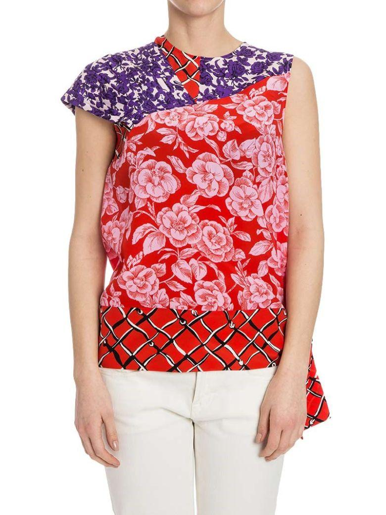 Msgm - Silk Top In Red