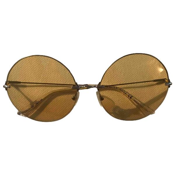 Christopher Kane Yellow Sunglasses