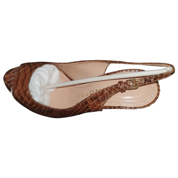 Luis Onofre Camel Leather Heels