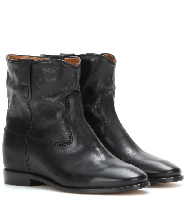 Isabel Marant Crisi Wedge Heel Ankle Boots In Black